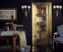 Изображение книг в технике trompe l\'oeil украшено золотом и кристаллами swarovskiripiani-di-libri-impreziosita-dai-decori-in-oro-e-swarovski